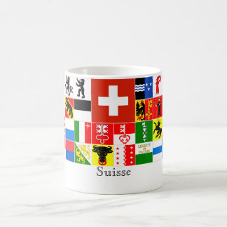 Suisse Switzerland French Canton Flags Classic White Coffee Mug