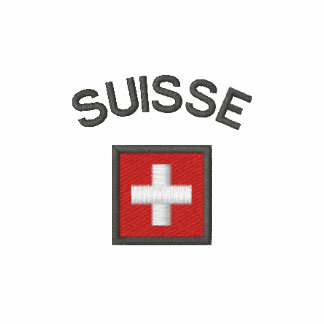 Suisse T Shirt With Switzerland Pocket Flag