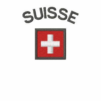 Suisse Zip Hoodie With Switzerland Pocket Flag