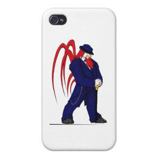 suit1Blue iPhone 4/4S Fundas
