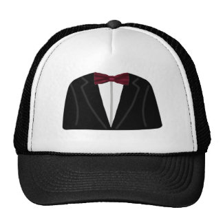 Suit And Dickie Bow Trucker Hat