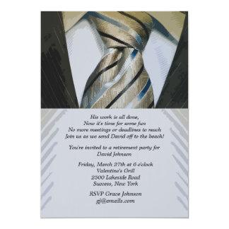 Suit and Tie Retirement Invitation