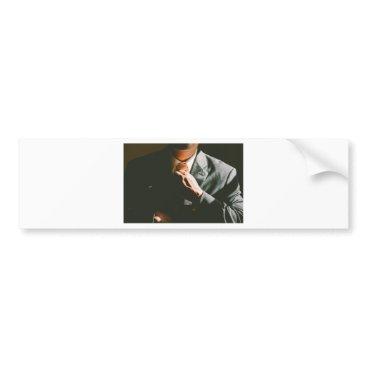 Professional Business Suit businessman tie shadow effect bumper sticker