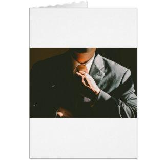 Suit businessman tie shadow effect card