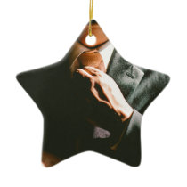 Suit businessman tie shadow effect ceramic ornament