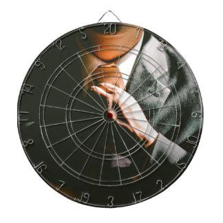 Suit businessman tie shadow effect dart board