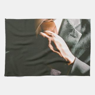 Suit businessman tie shadow effect hand towel