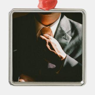 Suit businessman tie shadow effect metal ornament