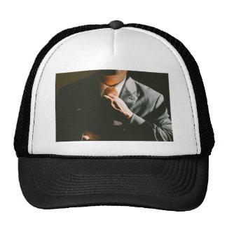 Suit businessman tie shadow effect trucker hat