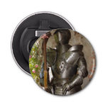 Suit of Armor Button Bottle Opener