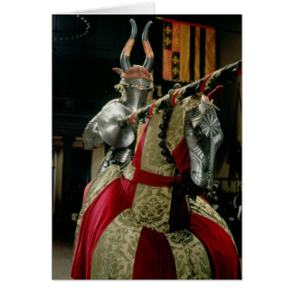 Suit of armour and matching horse armour card