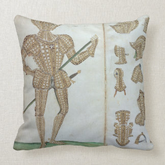 Suit of Armour for Sir Henry Lee, from 'An Elizabe Throw Pillow