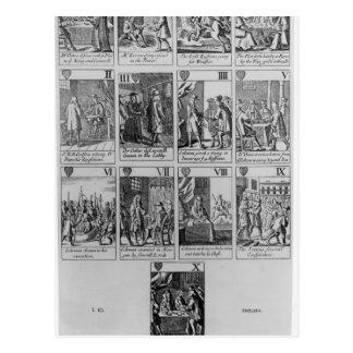 Suit of Hearts illustrating the 'Popish Plot' Postcard