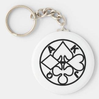 suit-round-BK-1 Keychain