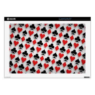 Suit Spades Hearts Clubs Diamonds Background Laptop Decals