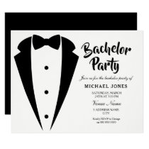 Suit & Tie Sophisticated Bachelor Party Invite