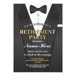 Suit Tuxedo Retirement Party Bowtie Invitation