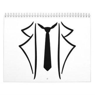 Suit tuxedo tie wall calendar
