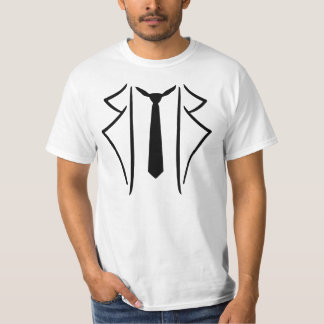 Suit tuxedo tie t shirt