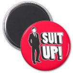 Suit Up! 2 Inch Round Magnet