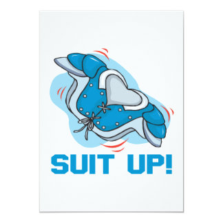Suit Up 5x7 Paper Invitation Card
