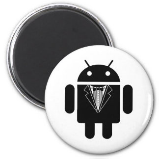Suit up Android 2 Inch Round Magnet