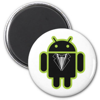 Suit up Android green 2 Inch Round Magnet