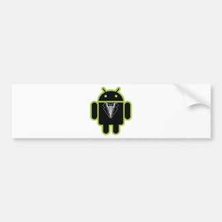 Suit up Android green Bumper Sticker