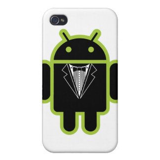 Suit up Android green Case For iPhone 4