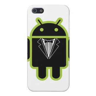 Suit up Android green iPhone 5 Covers