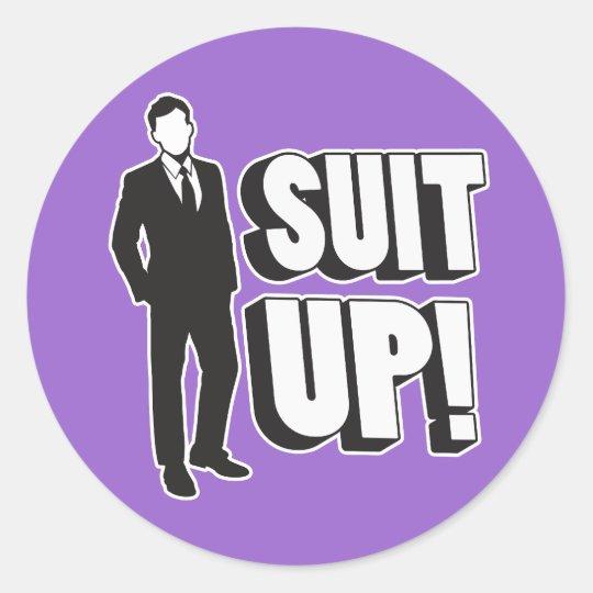 Suit Up! Classic Round Sticker