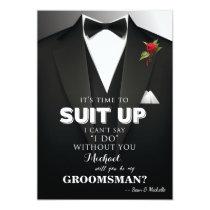 Suit Up Groomsman Tuxedo Invitation