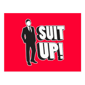 Suit Up! Postcard