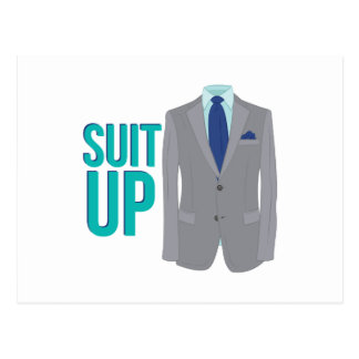 Suit Up Postcard