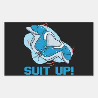 Suit Up Rectangular Sticker