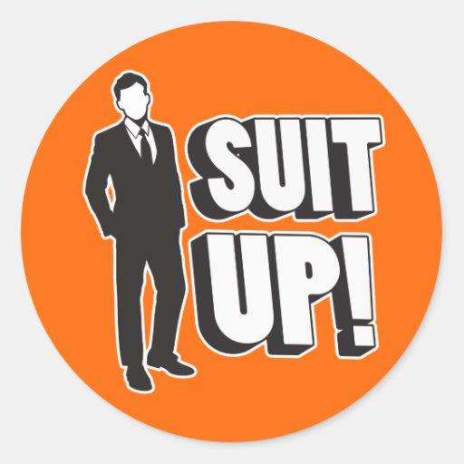 Suit Up! Round Sticker