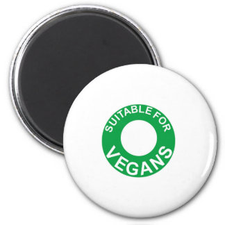 suitable for vegans 2 inch round magnet