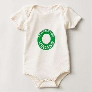 suitable for vegans baby bodysuit