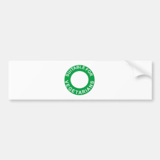 Suitable For Vegetarians Bumper Sticker