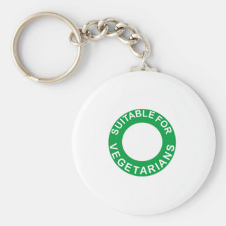 Suitable For Vegetarians Keychain