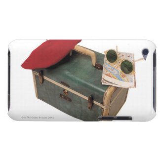 Suitcase , beret , map , and sunglasses iPod touch Case-Mate case