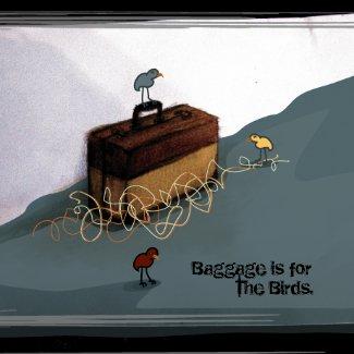 Suitcase Birds Magnet magnet