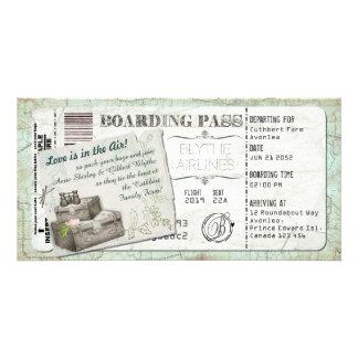 Suitcase Boarding Pass Invitation