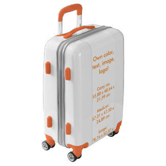 Suitcase Carry On uni White ~ Own Color Luggage