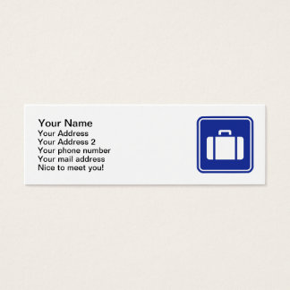 Suitcase icon mini business card