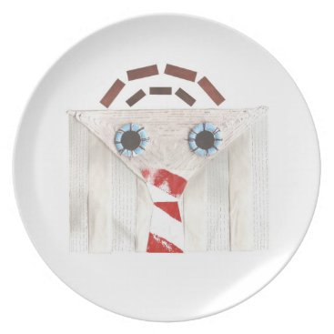 Professional Business Suitcase Man Melamine Plate