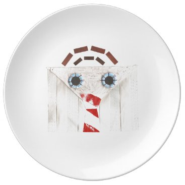 Professional Business Suitcase Man Porcelain Plate