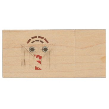 Professional Business Suitcase Man Wooden Pendrive Wood USB Flash Drive