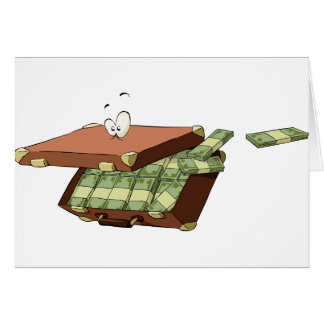 Suitcase Of Money Note Cards