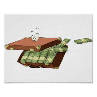 Suitcase Of Money Poster
